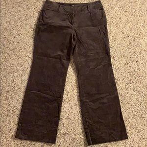 Brown corduroy slacks